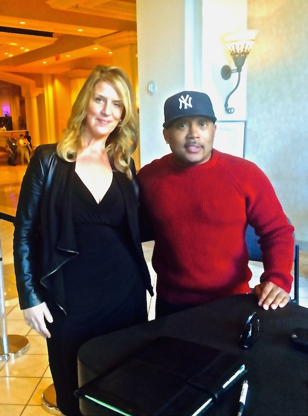 Elev8 Consulting Group CEO & Founder Angela Delmedico Meeting with Daymond John and Shark Branding