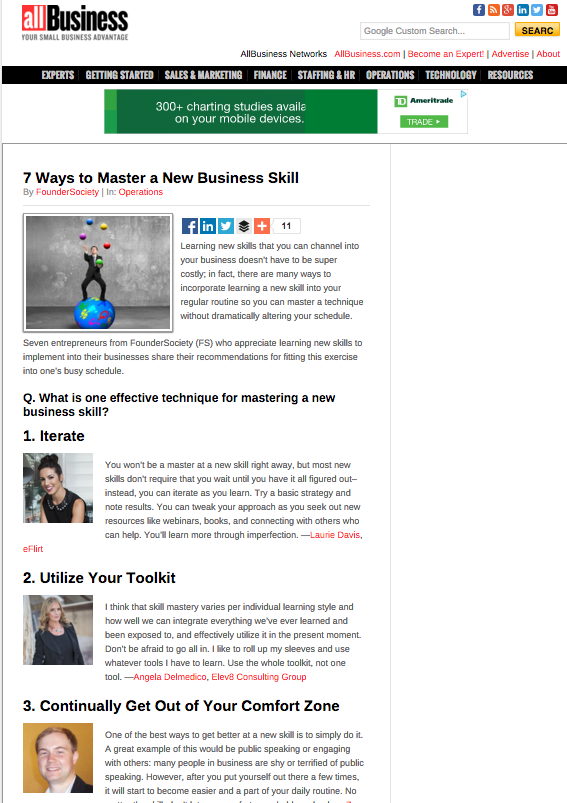 All Business Article- Elev8 Consulting Group