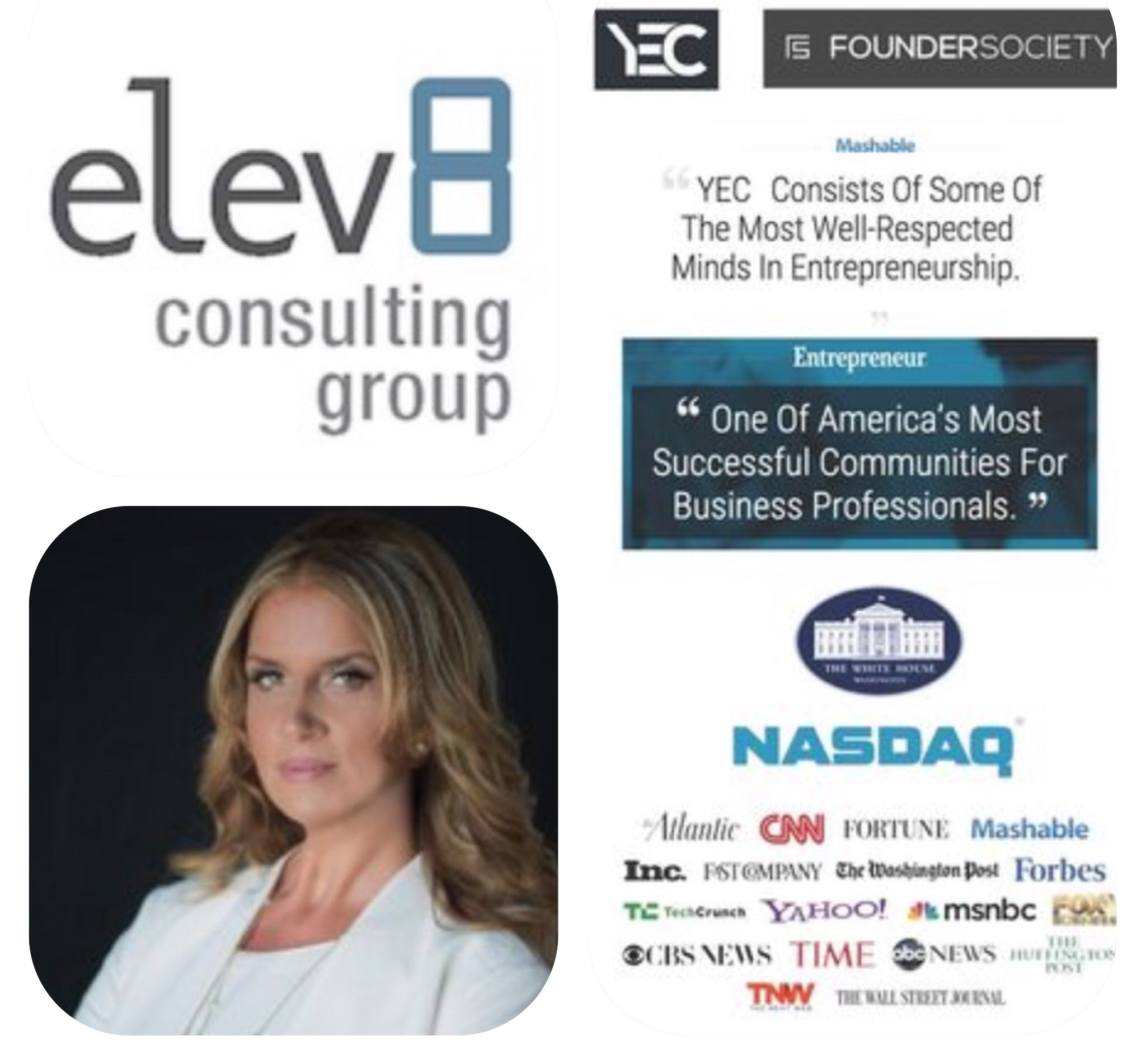 Entrepreneurial Tips By YEC Founder Society Members Featuring Elev8 CEO Angela Delmedico