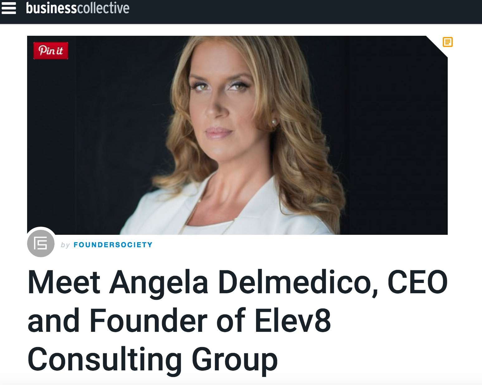 Elev8 Consulting Group Angela Delmedico