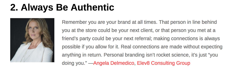 Angela Delmedico featured in All Business