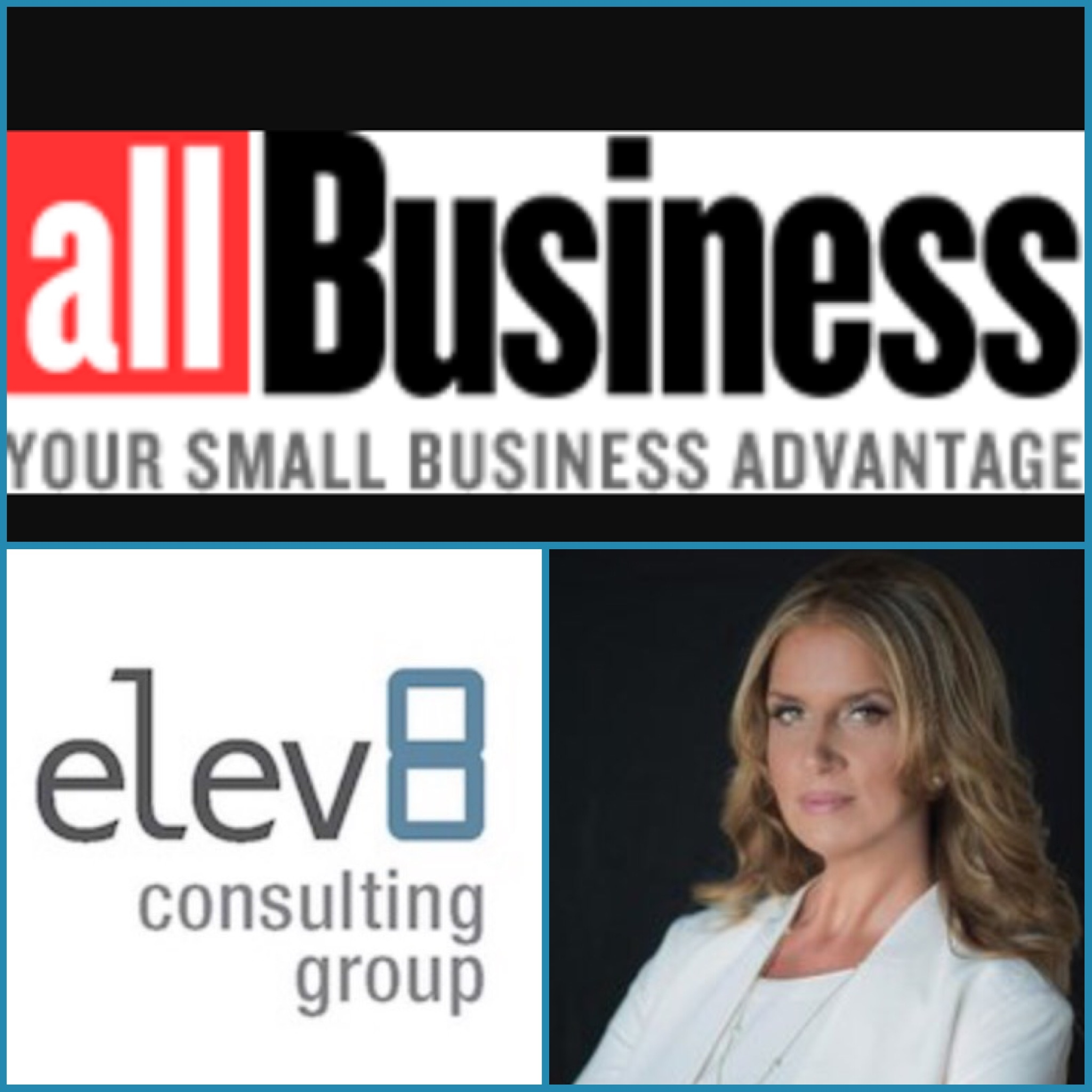 "All Business Article ""Want Your Team To Collaborate More? Keep These 6 Things In Your Office"" Features Elev8 CEO Angela Delmedico"