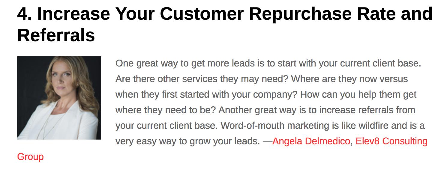 All Business features Angela Delmedico