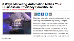 Elev8 Consulting Group CEO Angela Delmedico Featured In All Business 8 Ways Marketing Automation Makes Your Business an Efficiency Powerhouse