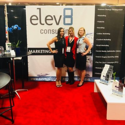 Elev8 Consulting Group CEO Angela Delmedico & Booth Team Present Marketing and Publicity at Win The Storm Conference Las Vegas Nevada
