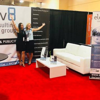 Elev8 Consulting Group Booth Team at Win The Storm Conference Las Vegas Nevada