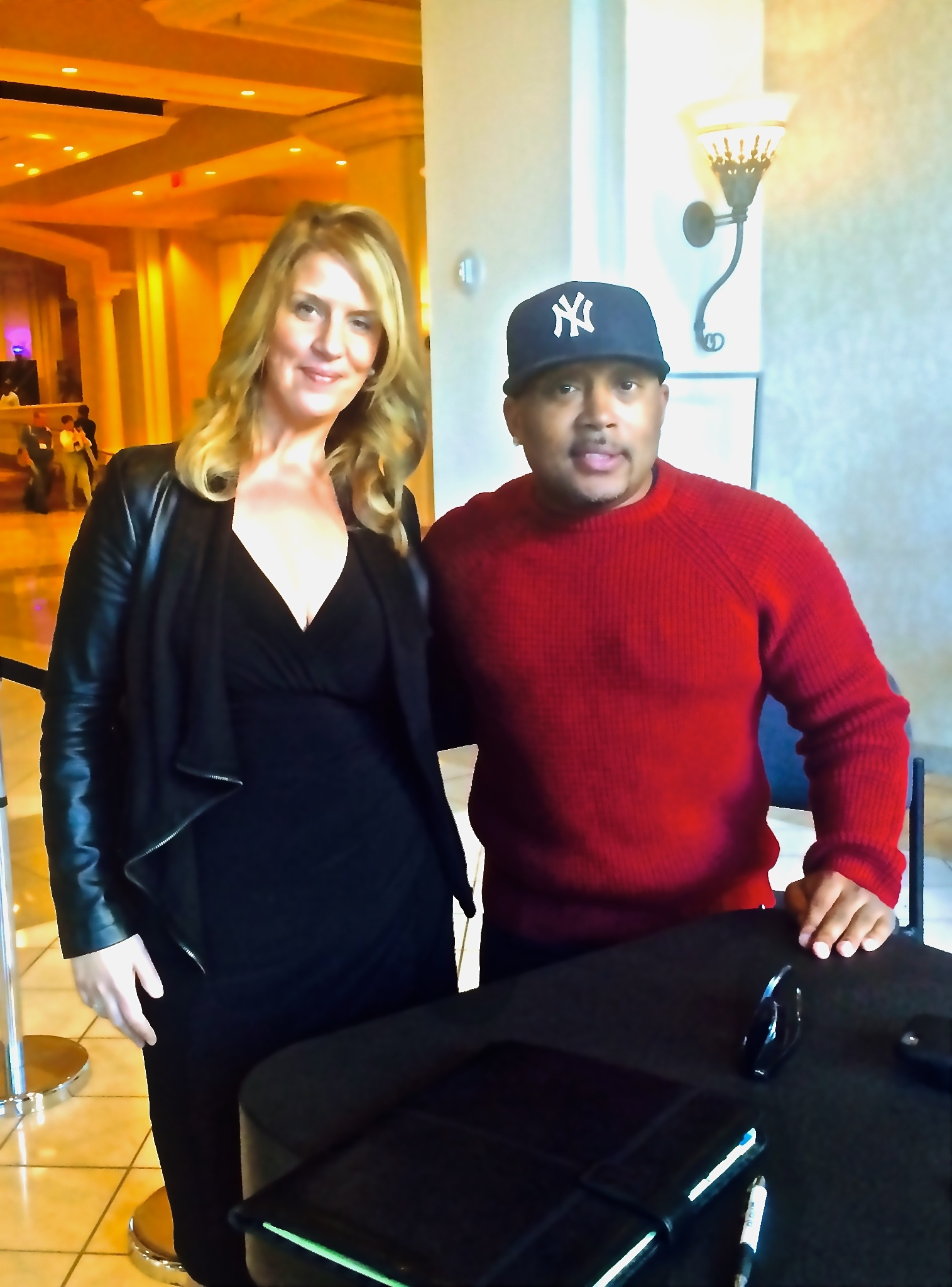 Elev8 Founder Angela Delmedico Meets With Daymond John & Shark Branding