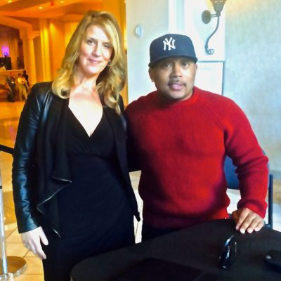 Elev8 Consulting Group CEO Angela Delmedico Meeting with Daymond John Shark Tank Las Vegas Nevada