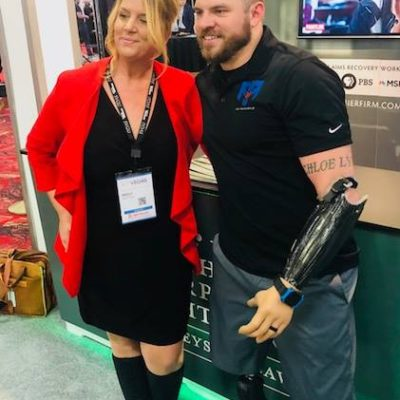 Elev8 Consulting Group CEO Angela Delmedico Meets Travis Mills at Win The Storm Conference Las Vegas Nevada
