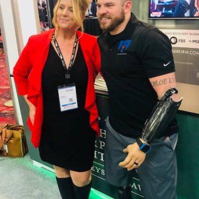 Elev8 Consulting Group CEO Angela Delmedico Meets Travis Mills at Win The Storm Conference Las Vegas Nevada