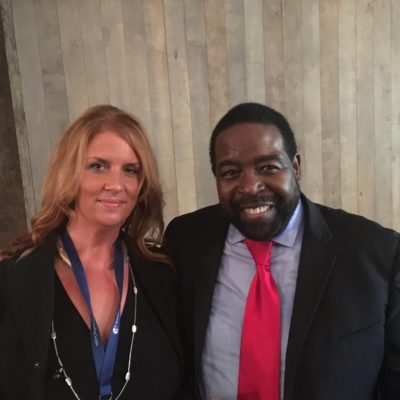 Elev8 Consulting Group CEO Angela Delmedico Meets Les Brown at Annual Win The Storm Conference Miami Florida
