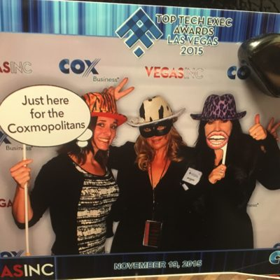 Elev8 Consulting Group Celebrating with Client Nominees at Las Vegas Top Tech Exec Awards