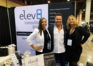 Elev8 Consulting Group CEO Angela Delmedico Presents on Marketing Panel after Brad Lea Takes the Stage