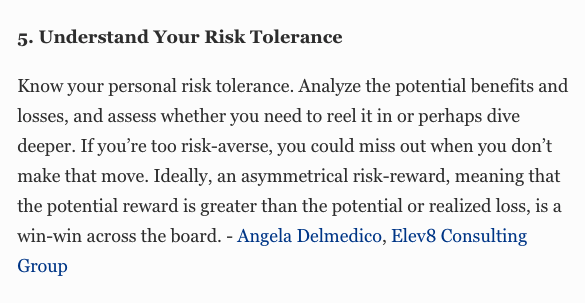 Elev8 Consulting Group CEO Angela Delmedico Featured In Forbes: 14 Keys To Taking Risky Moves In Business
